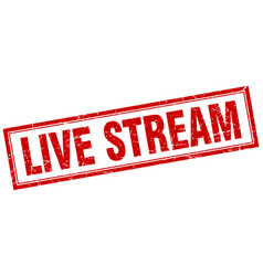 Live stream square stamp vector