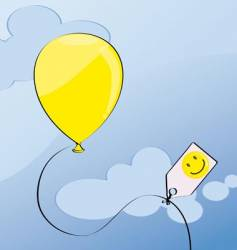 Yellow balloon vector