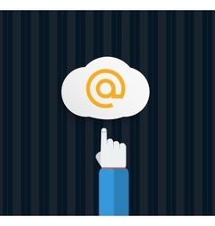 Browser cloud in flat vector image