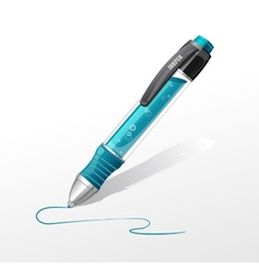 Blue pen vector