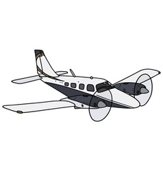 Twin engine airplane vector image