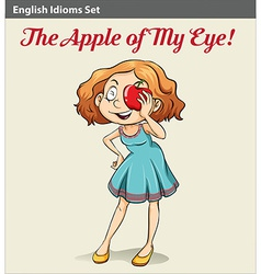 An apple of my eye poster vector