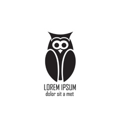 Stylized owl on white background vector