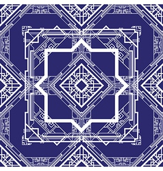 Art deco blue vector