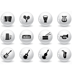 Glossy buttons vector