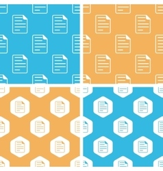 Document page pattern set colored vector