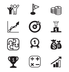 Business goal icons set vector