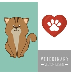 Veterinary clinic healthcare vector