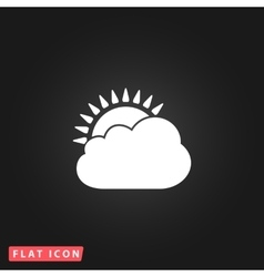 Sun cloud icon vector