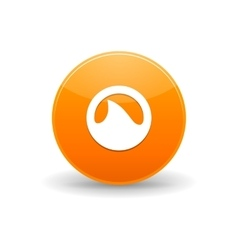 Grooveshark icon simple style vector
