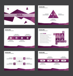 Purple polygon presentation templates infographic vector