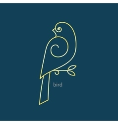Bird logo in a trendy linear style vector