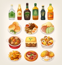 Traditional irish cuisine vector