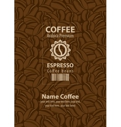 Design labels for coffee beans vector