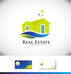 Real estate house villa logo icon design vector image