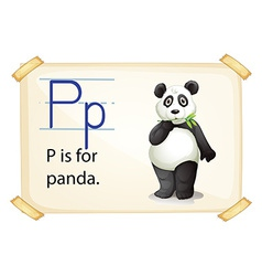 A letter P for panda vector image