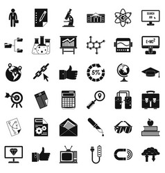 Analysis icons set simple style vector