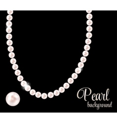 Beauty Pearl Background vector image vector image
