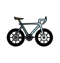 Bicycle vehicle isolated vector