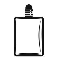 Bottle of female perfume icon simple style vector