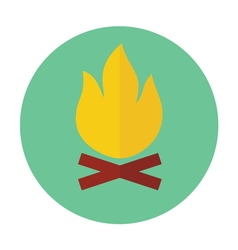 Campfire outline icon vector