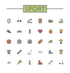 Colored Sport Line Icons vector image