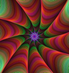 Colorful fractal ornament background vector