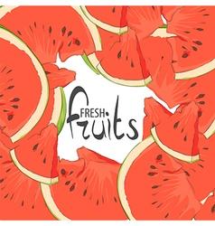 Delicious slices vector image vector image
