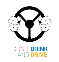 drink and drive icon vector image vector image