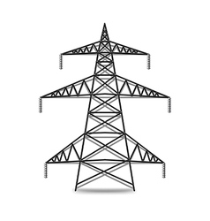 Electric lines isolated on white vector image vector image
