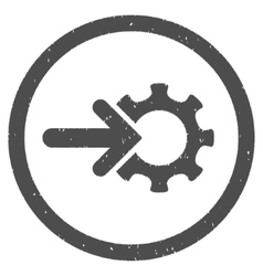 Gear integration icon rubber stamp vector