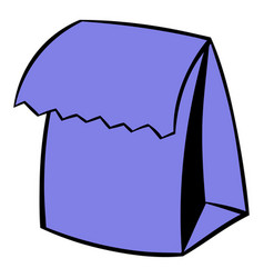 Lunch bag icon icon cartoon vector