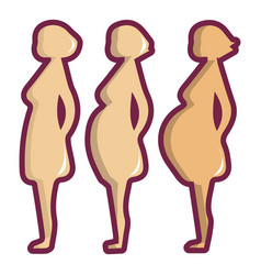 Pregnant period icon cartoon style vector