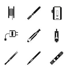 Smoking icons set simple style vector