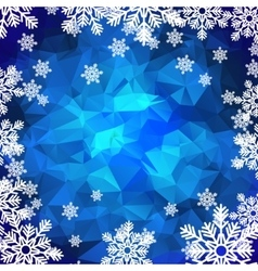 Snowflakes polygonal background vector