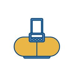 Sound speaker device icon vector