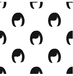 Squareback hairstyle single icon in black style vector