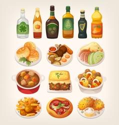 Traditional irish cuisine vector