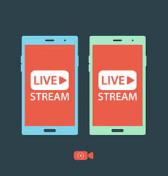Video streaming on phone vector