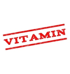 Vitamin Watermark Stamp vector image