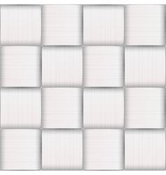 White strips basketwork art vector