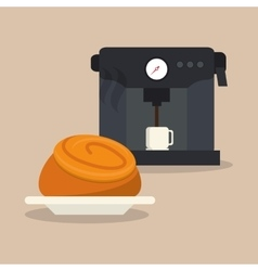 Coffee and pastry image vector