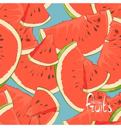 watermelon slices seamless vector image