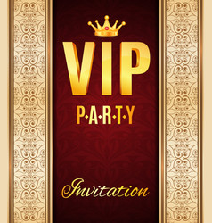 Vip elegant card vector