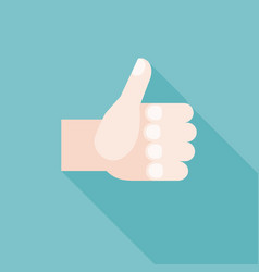 thumbs up hand for like or guarantee icon sign vector image