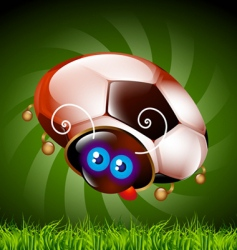 Ladybug football fan vector