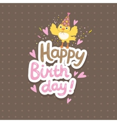 Happy birthday background with bird vector