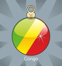 Congo flag on bulb vector