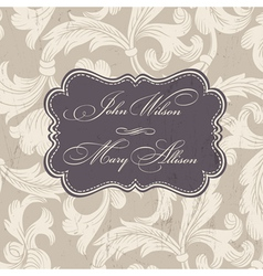 Wedding stylish card template vector
