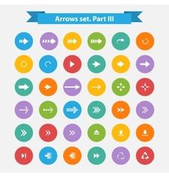 Big set arrows in flat style vector image
